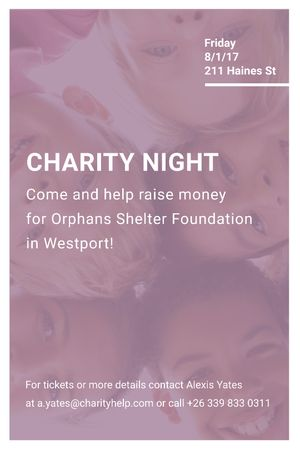 Plantilla de diseño de Happy kids in circle on Charity Night Tumblr