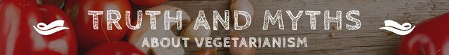 Plantilla de diseño de Truth and myths about Vegetarianism Leaderboard