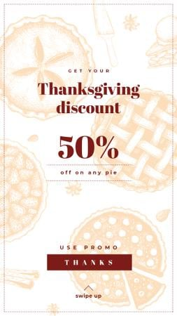 Ontwerpsjabloon van Instagram Story van Thanksgiving Day Sale Offer