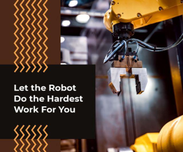 Modern Robotics Technology on Production Line Large Rectangle – шаблон для дизайна
