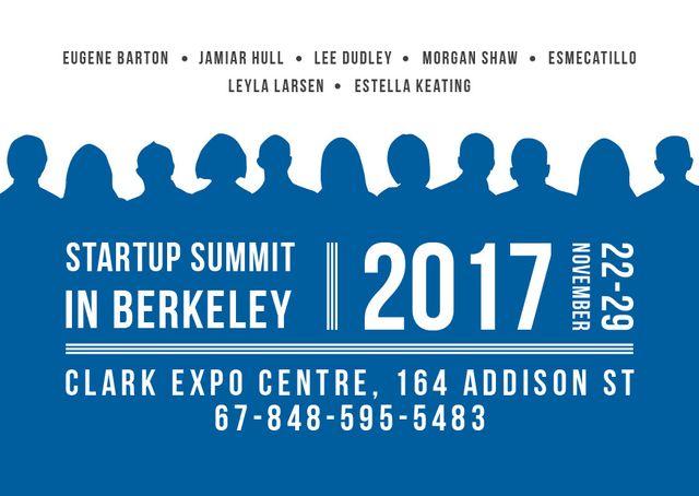 Startup summit Announcement Cardデザインテンプレート