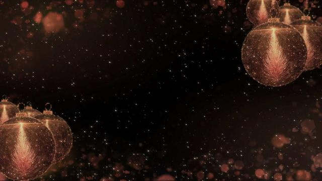 Designvorlage New Year Greeting with Shiny Baubles für Full HD video