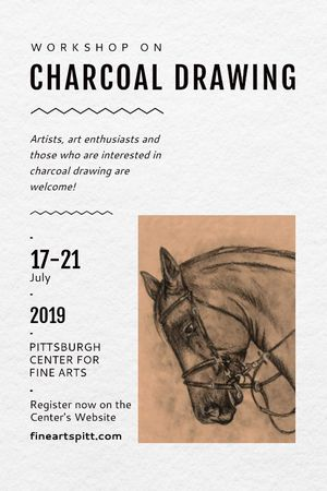 Plantilla de diseño de Drawing Workshop Announcement Horse Image Tumblr