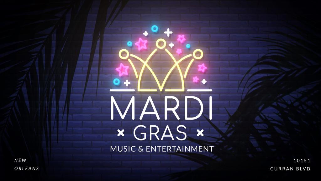 Mardi gras crown neon light — Створити дизайн