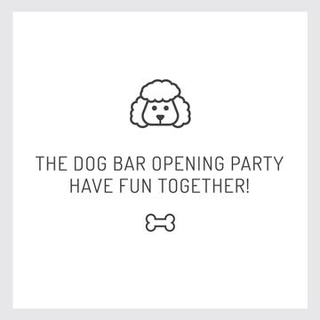 Pet Bar Party Invitation with Dog icon