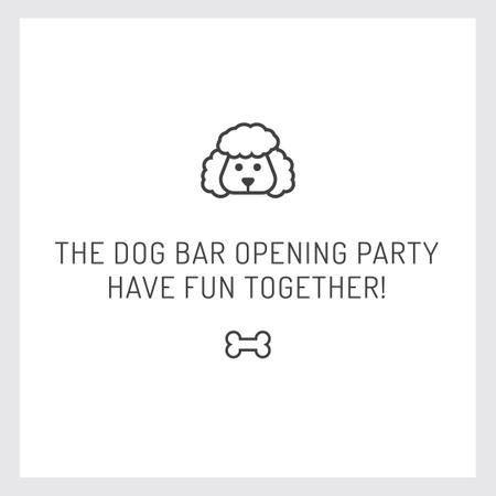 Plantilla de diseño de Pet Bar Party Invitation with Dog icon Instagram AD
