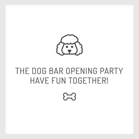 Designvorlage Pet Bar Party Invitation with Dog icon für Instagram AD