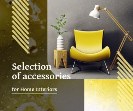 Home Accessories Sale Cozy Modern Interior Large Rectangle – шаблон для дизайну