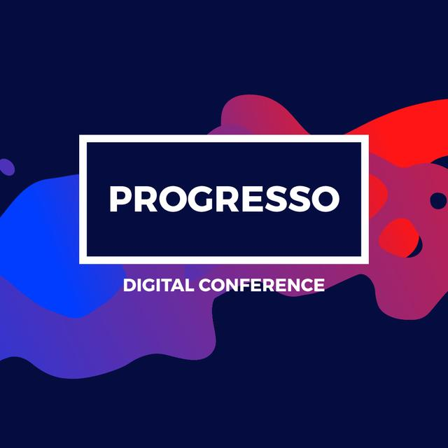 Digital Conference Announcement on Paint blots Animated Post – шаблон для дизайну