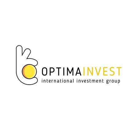 Template di design Investment Company Ad with Hand holding Coin Logo