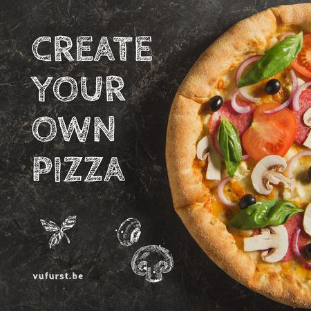 Plantilla de diseño de Italian Pizza menu promotion Animated Post