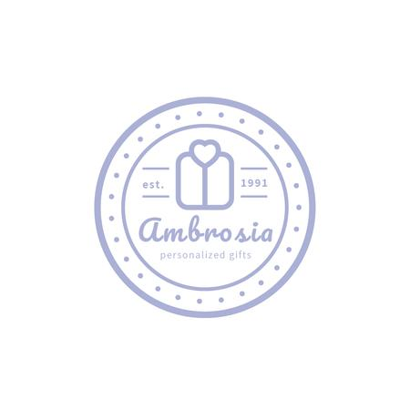 Plantilla de diseño de Gift Shop Ad with Stamp Icon with Present Logo