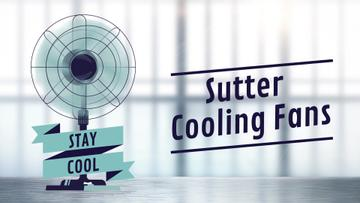 Cooling Fan Ad in Blue