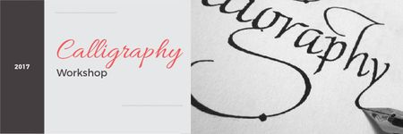 Plantilla de diseño de Calligraphy workshop Annoucement Email header