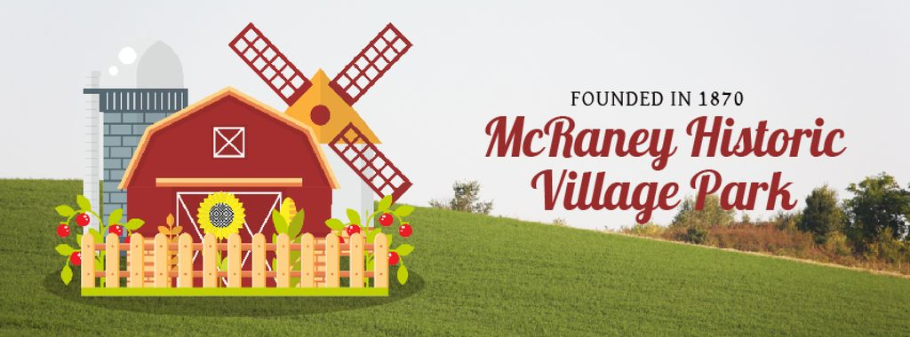 Farm Barn and Windmill | Facebook Video Cover Template — Create a Design