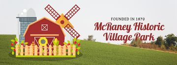 Farm Barn and Windmill | Facebook Video Cover Template