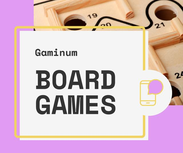 Plantilla de diseño de Board Games App Offer Facebook