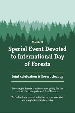 International Day of Forests Event Announcement in Green | Tumblr Graphics Template