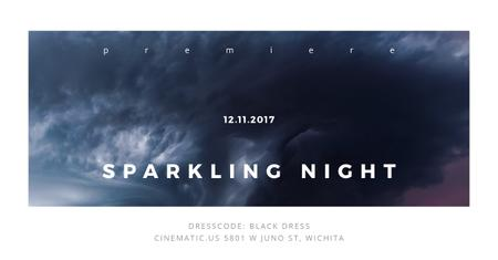 Ontwerpsjabloon van Facebook AD van Sparkling night event with dark clouds