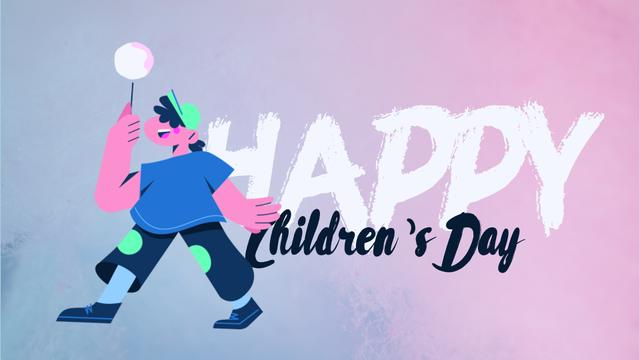 Plantilla de diseño de Happy kid with candy Full HD video