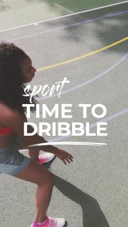 Plantilla de diseño de Woman Playing Basketball TikTok Video