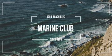 Marine club advertisement