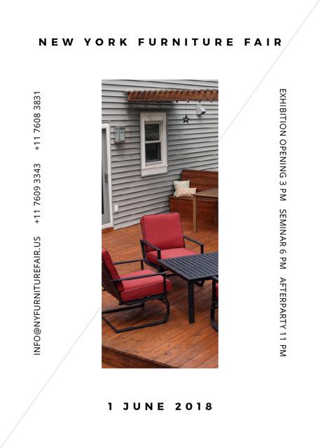Ontwerpsjabloon van Invitation van New York Furniture Fair announcement