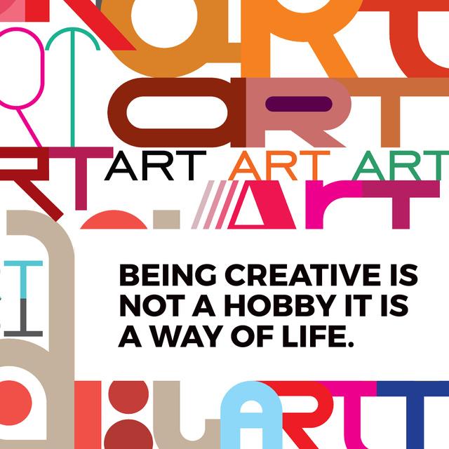 Modèle de visuel Citation about how to be a creative - Instagram