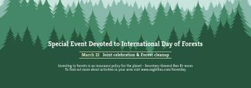 International Day of Forests Event Announcement in Green | Tumblr Banner Template