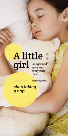 Plantilla de diseño de Cute little girl sleeping Graphic