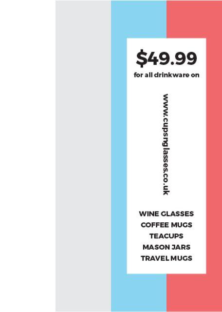 Shop Sale announcement on colorful Stripes Invitation – шаблон для дизайну