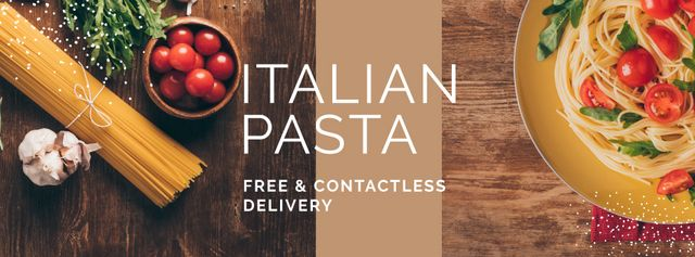 Plantilla de diseño de Fresh Pasta Kit Delivery Offer Facebook cover