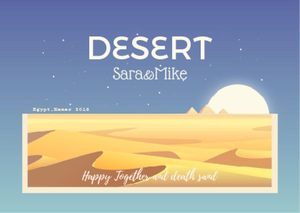 Desert illustration with Sandy Mounds — Modelo de projeto