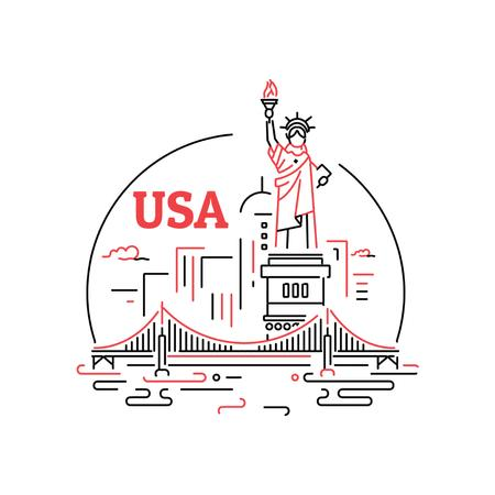 New York city icon Animated Postデザインテンプレート