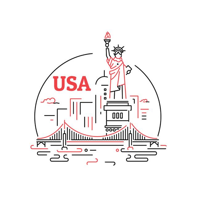 Plantilla de diseño de New York city icon Animated Post
