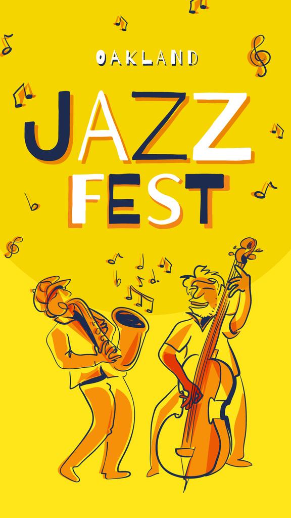 Band playing jazz on Yellow — Crea un design