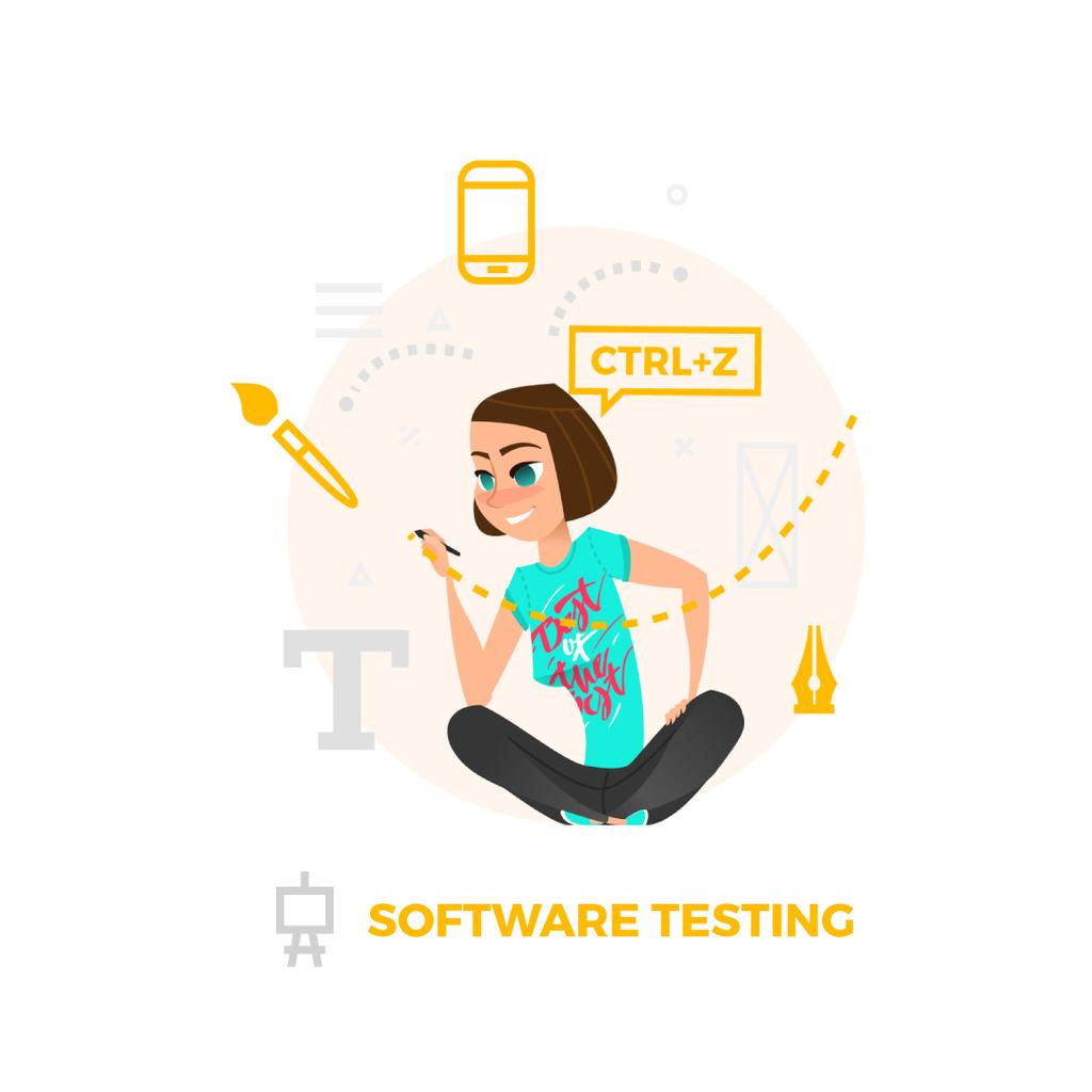 Businesswoman using Design tools on smart screen – Stwórz projekt
