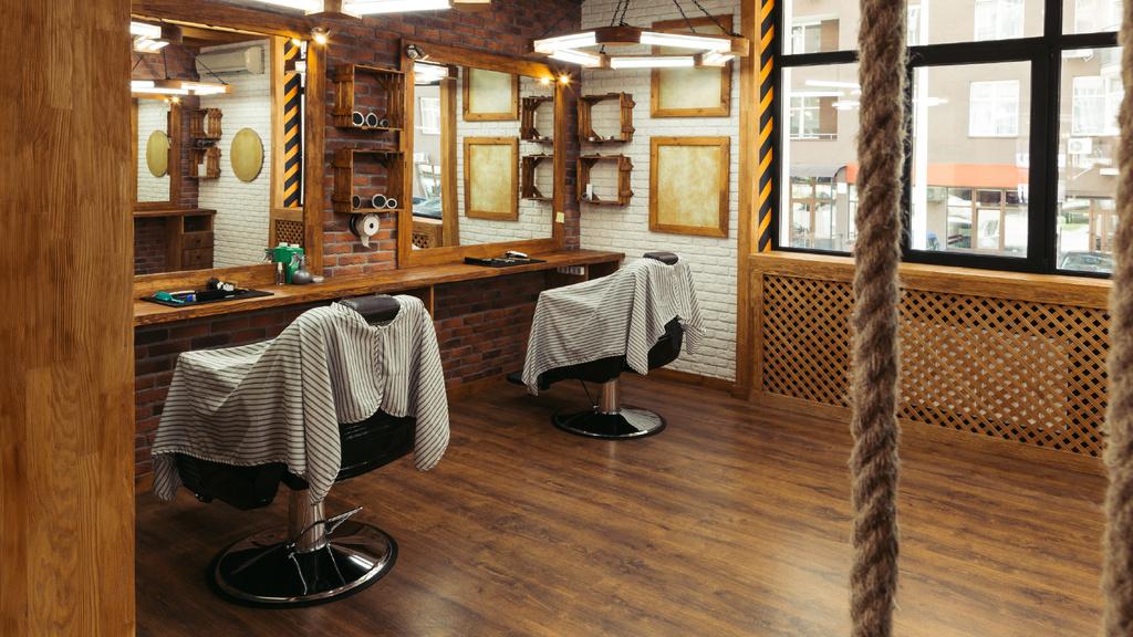 Authentic Vintage Barbershop interior — Modelo de projeto