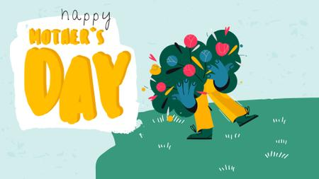 Plantilla de diseño de Man with Bouquet for Mother's Day Full HD video