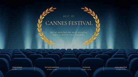 Plantilla de diseño de Cannes Film Festival poster Full HD video