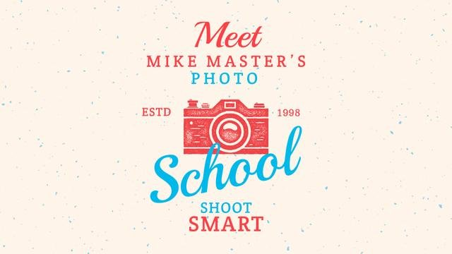 Plantilla de diseño de Photo School Ad Stamp of Camera Full HD video