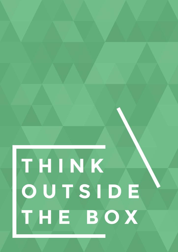 Think outside the box citation — Crea un design