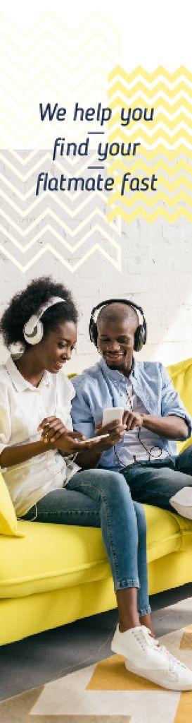 People Listening Music on Smartphone — Создать дизайн