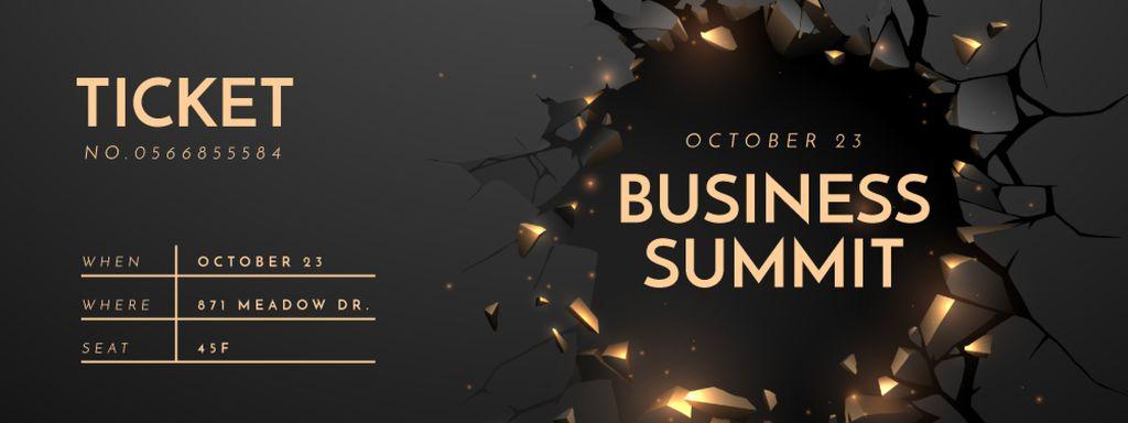 Business Summit Announcement in Wall's Hole — Créer un visuel