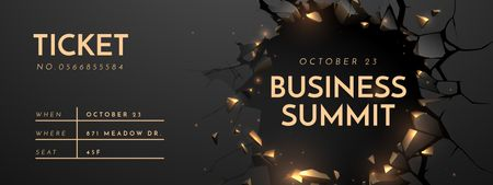 Plantilla de diseño de Business Summit Announcement in Wall's Hole Ticket