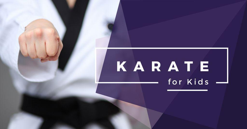 karate club for kids poster  — Создать дизайн