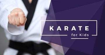 karate club for kids poster