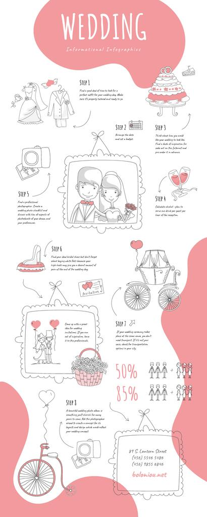 Informational infographics about Wedding — Crea un design