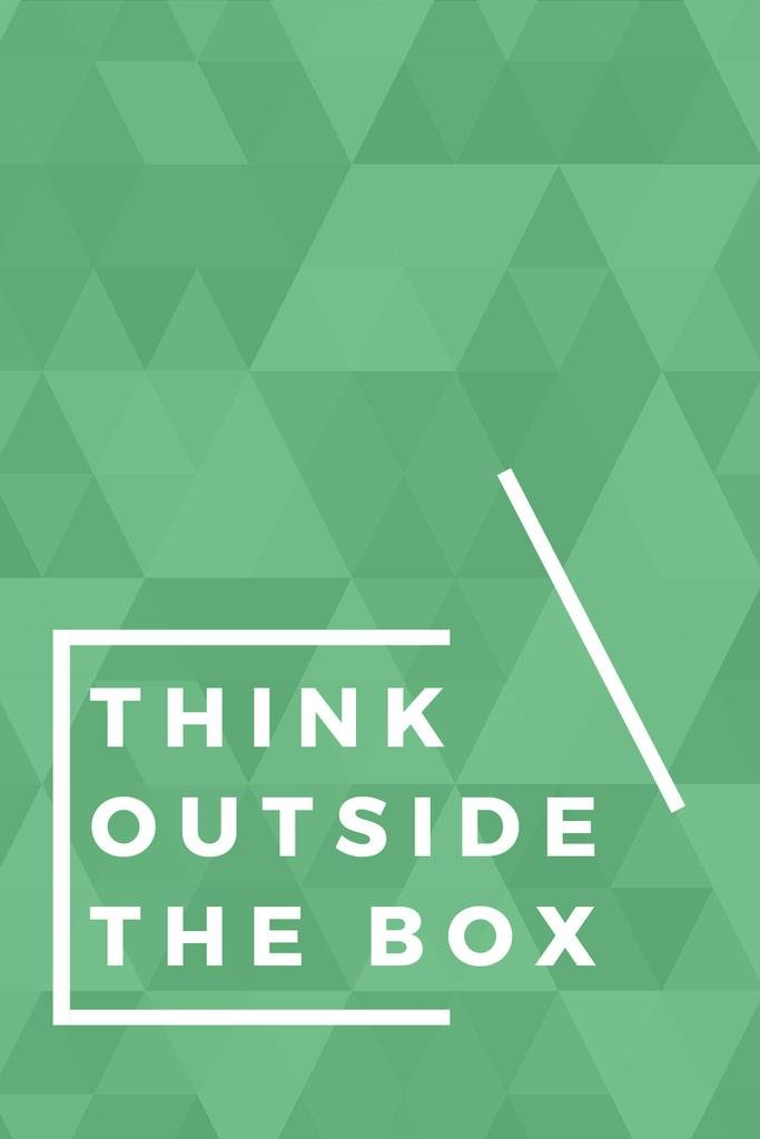 Think outside the box citation — Створити дизайн