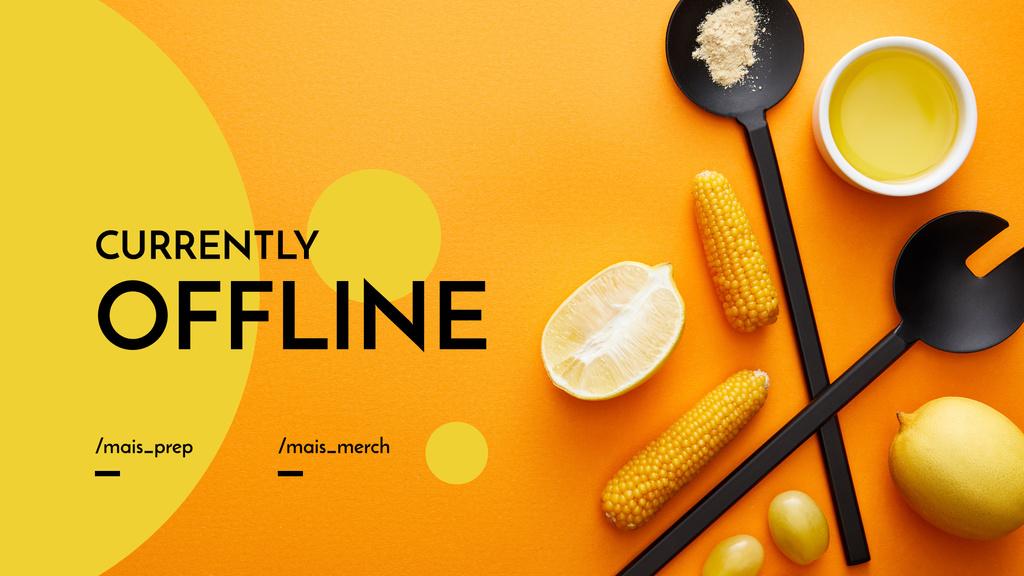 Cooking Blog ad with Vegetables — Crea un design